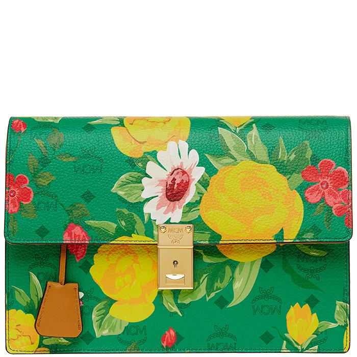 Blume-Paradiso-Flower-SHoulder-Clutch-Green-3