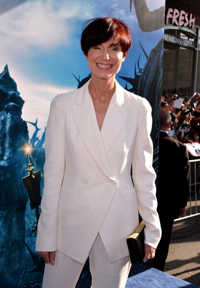 "HOLLYWOOD, CA - MAY 28:  Writer Linda Woolverton attends the World Premiere of Disney's ""Maleficent"" at the El Capitan Theatre on May 28, 2014 in Hollywood, California.  (Photo by Kevin Winter/Getty Images)"