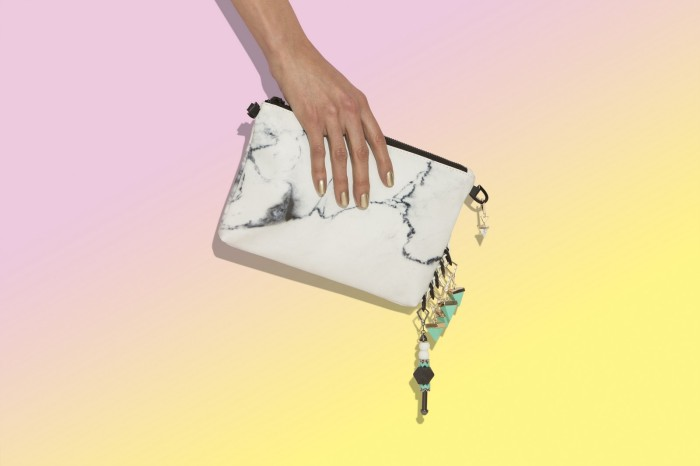 Clutch_WhiteMarblewithAssortedCharms